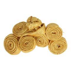 Chinese knoop rolletjes klein 5cm - 12st - Goud