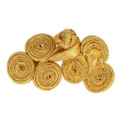 Chinese knoop rolletjes groot 5,5cm - 12st - Goud