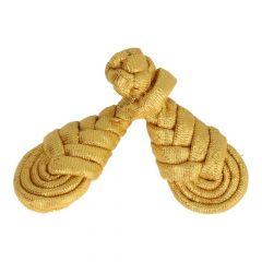 Chinese knoop vlecht groot 9cm - 6st - Goud