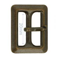 Gesp metaal 20mm - 6st