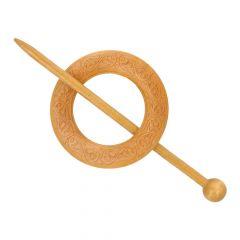 Vestsluiting hout cirkel 60mm - 5st