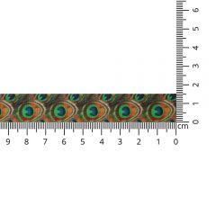 Kuny Satijnlint pauw 15mm - 20m