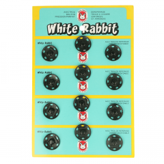 Manteldrukker White Rabbit 18mm zwart - 6st