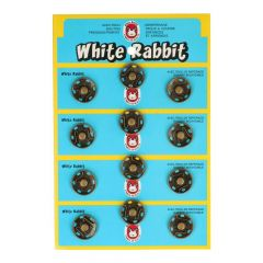 Manteldrukker white rabbit 18mm - 6x12st