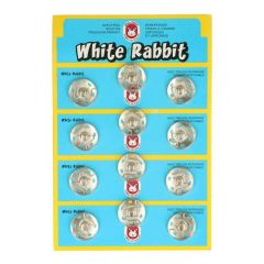 Manteldrukker White Rabbit 21mm nikkel - 6st