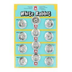 Manteldrukker white rabbit 25mm - 6x12st - NI