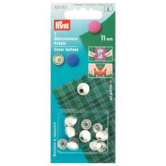 Prym Stofknopen zonder matrijs zilver - 5st