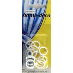 Antex Ringen plastic 13x18mm wit - 5x15st