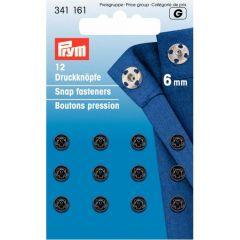 Prym Aannaaidrukknopen MS 6-13mm Zwart - 5st G