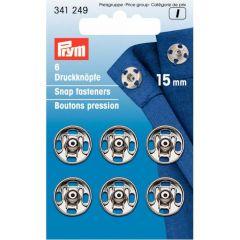 Prym Aannaaidrukknopen MS 15-21mm Zilverkleurig - 5st I