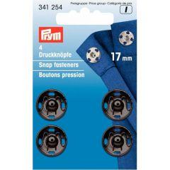Prym Aannaaidrukknopen MS 17 mm zwart - 5st I