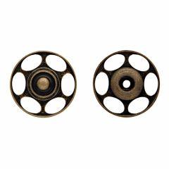 Prym Aannaaidrukknoop voor wol 25mm oudmessing - 5x2st