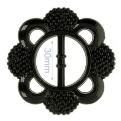Siergesp kunststof bloem 30mm - 6st