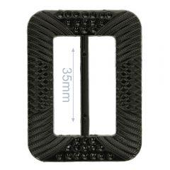 Siergesp kunststof rechthoek 35mm - 8st