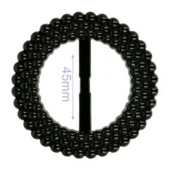 Siergesp kunststof rond 45mm - 6st