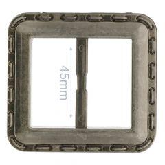 Siergesp vierkant kunststof 45mm - 6st