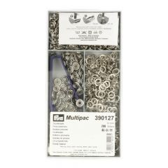 Prym Naaivrijdrukknoop jersey tandring 10mm zilver - 200st