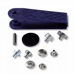 Prym Naaivrijdrukknoop anorak 12mm zilver - 5x10st