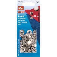 Prym Navullingen Anorak 12mm zilverkleurig - 5st  T