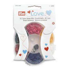 Prym Love drukknopen 9mm - 6 kleuren - 3x72st