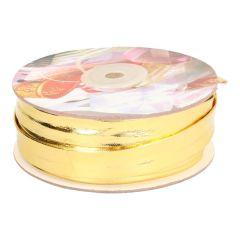 Biaisband lurex 16mm - dun - goud en zilver - 15m