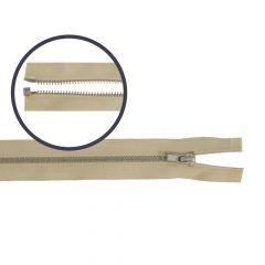Rits deelbaar smal 45cm nikkel - 5st