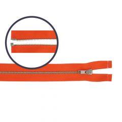 Rits deelbaar smal 55cm nikkel - 5st
