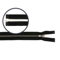 Rits deelbaar smal 60cm nikkel - 5st
