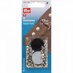 Prym Holle nieten materiaaldikte 3-9mm zilver - 5st