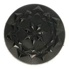 Knoop facetknoop zwart - maat 24, 32, 36 of 44