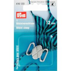 Prym Bikini-ceintuursluiting staal klaver 12mm - 5st