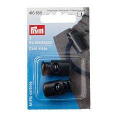 Prym Koordstoppers 1-gaats zwart - 5x2st