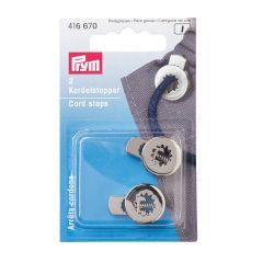 Prym Koordstoppers 1-gaats rond oud zilver - 5x2st