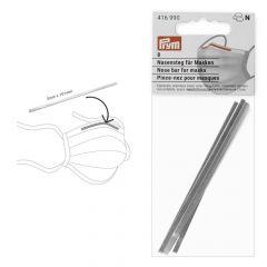 Prym Neusbrug voor mondmaskers 3x101mm zilver - 10x8st
