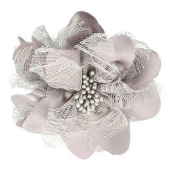 Prym Broche bloem 10cm grijs-zilver - 3st