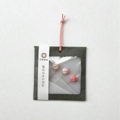 Cohana Sakura Mizuhiki glaskopspelden 0.50x40mm roze - 1x3st