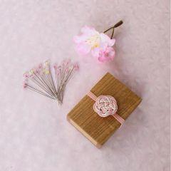 Cohana Sakura glaskopspelden houten doos 0.50x37mm - 1x20st