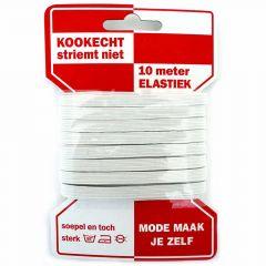 Rode kaart elastiek 6mm - 10x10m