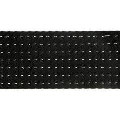 Ceintuur elastiek 60mm zwart - 10m