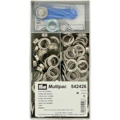 Prym Ringen met schijven 14mm zilver - 80st