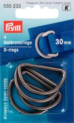 Prym D-ringen oudzilver - 5st