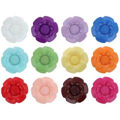 Knoop bloem verw. hart maat 40 - 25.00mm - 11x40st