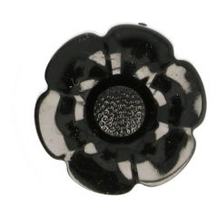 Knoop bloem verwisselbaar hartje maat 40 - 40st