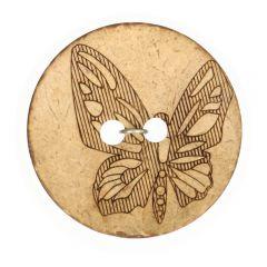 "Knoop Kokos gelaserd vlinder 32""-70"" - 50st."