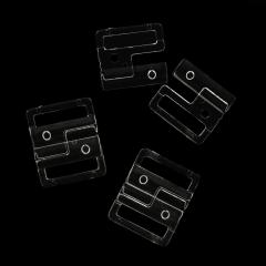Bikinsluiting 20mm - 25 stuks - Transparant