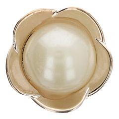 """Knoop parel in bloem metaal goud of zilver 36"""" - 50st"""