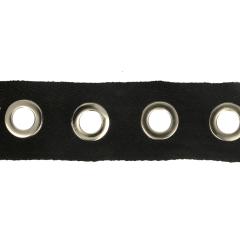Geweven nesteloogband 35mm zwart - 10m