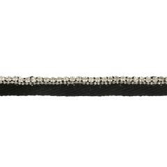 Paspelband diamantjes in kristalkwaliteit 10mm zwart - 10m