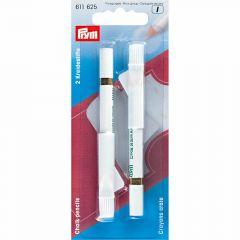 Prym Krijtpotloden met borsteltje wit-blauw-roze - 5st I