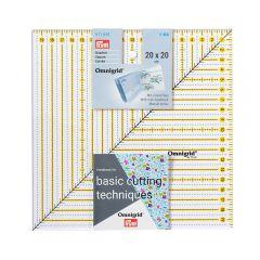 Prym Omnigrid patchwork liniaal vierkant 20x20cm - 3st